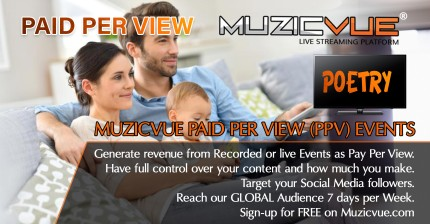 Watch Muzicvue PPV Poetry Event