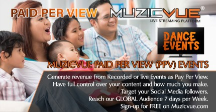Watch Muzicvue PPV Live Dance Event