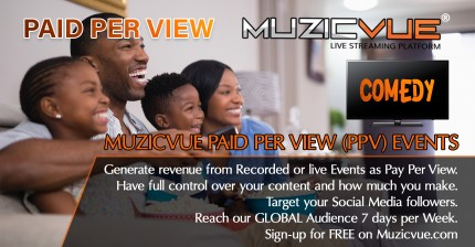 Watch Muzicvue PPV Comedy Event
